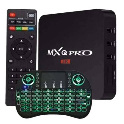 TV Box IPTV Android MXQ PRO 4K + Mini Teclado Luminoso