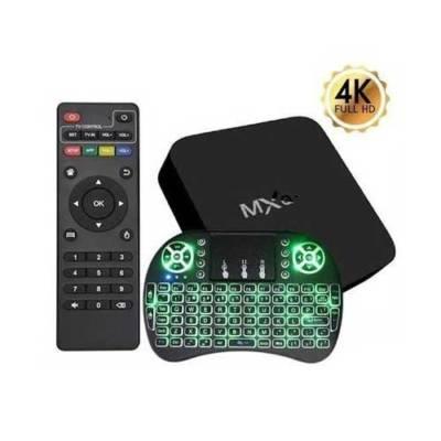 TV Box IPTV Android 4K + Mini Teclado Luminoso (Configurada)